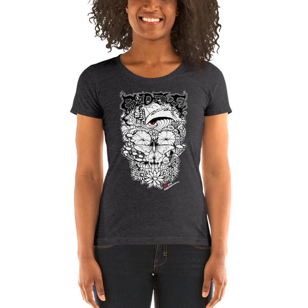 """Redeye Skull"" Ladies' short sleeve t-shirt  - Redeye Laboratories"