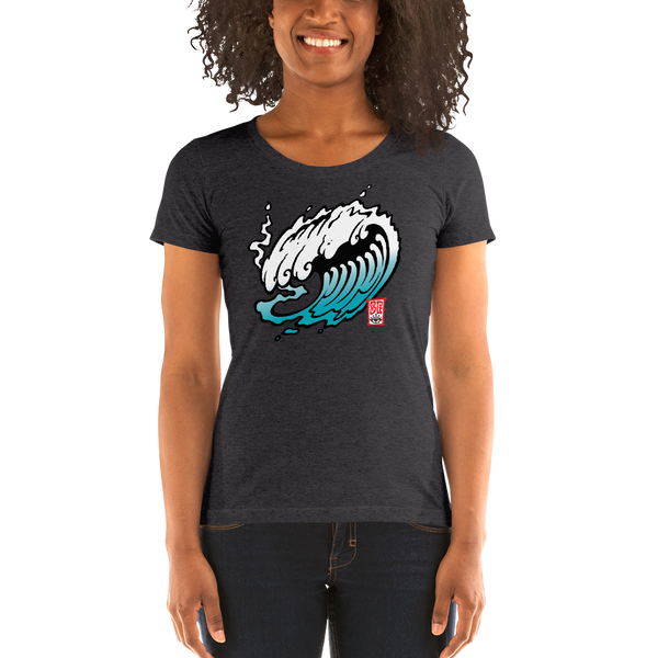 """The Wave"" Ladies' short sleeve t-shirt  - Redeye Laboratories"
