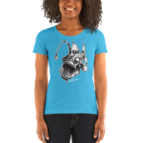 """The Anglerfish"" Ladies' short sleeve t-shirt  - Redeye Laboratories"