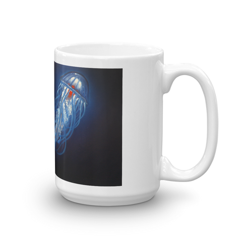 Blue Jelly Red Heart Mug mug - Redeye Laboratories