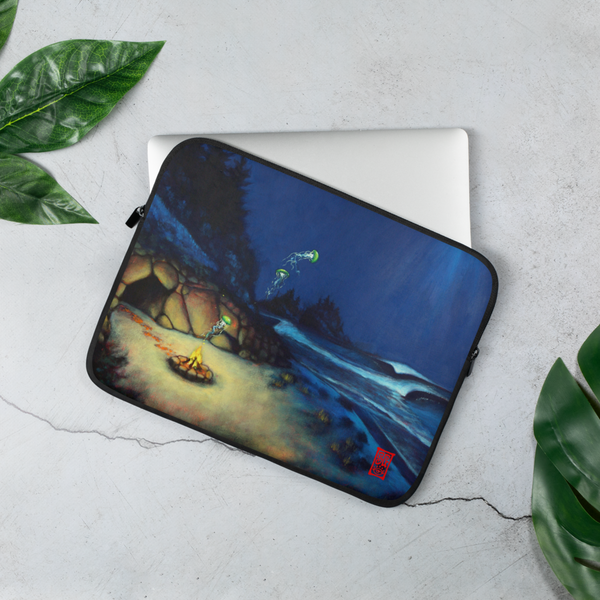 """Tres Preguntas"" Laptop Sleeve  - Redeye Laboratories"