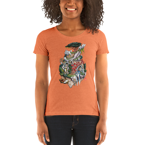 """Cosmic Island"" Ladies' short sleeve t-shirt  - Redeye Laboratories"