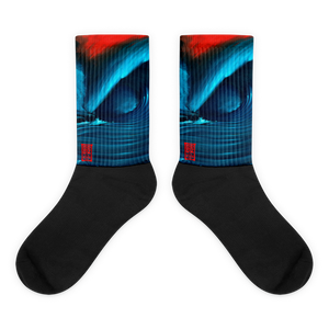 Red Wave 1 Black foot socks Socks - Redeye Laboratories
