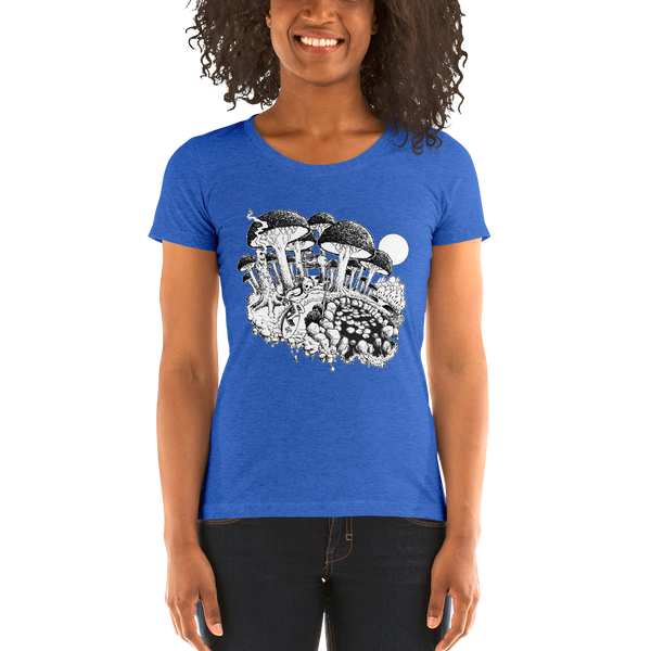 """Mushroom Forest"" Ladies' short sleeve t-shirt  - Redeye Laboratories"