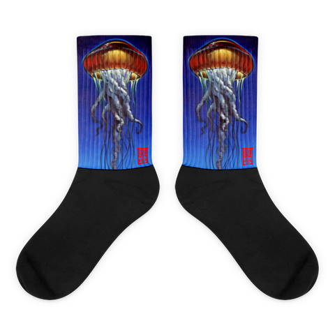 Red Jelly Black foot socks Socks - Redeye Laboratories