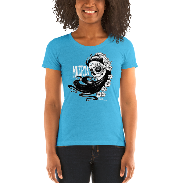 """Muerta Girl"" Ladies' short sleeve t-shirt  - Redeye Laboratories"