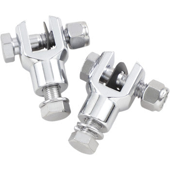 REPLACEMENT CHROME FOOTPEG CLEVIS MOUNTS