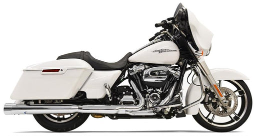 "BASSANI DNT 4"" CHROME STRAIGHT CAN MUFFLERS 17-20 BAGGERS"