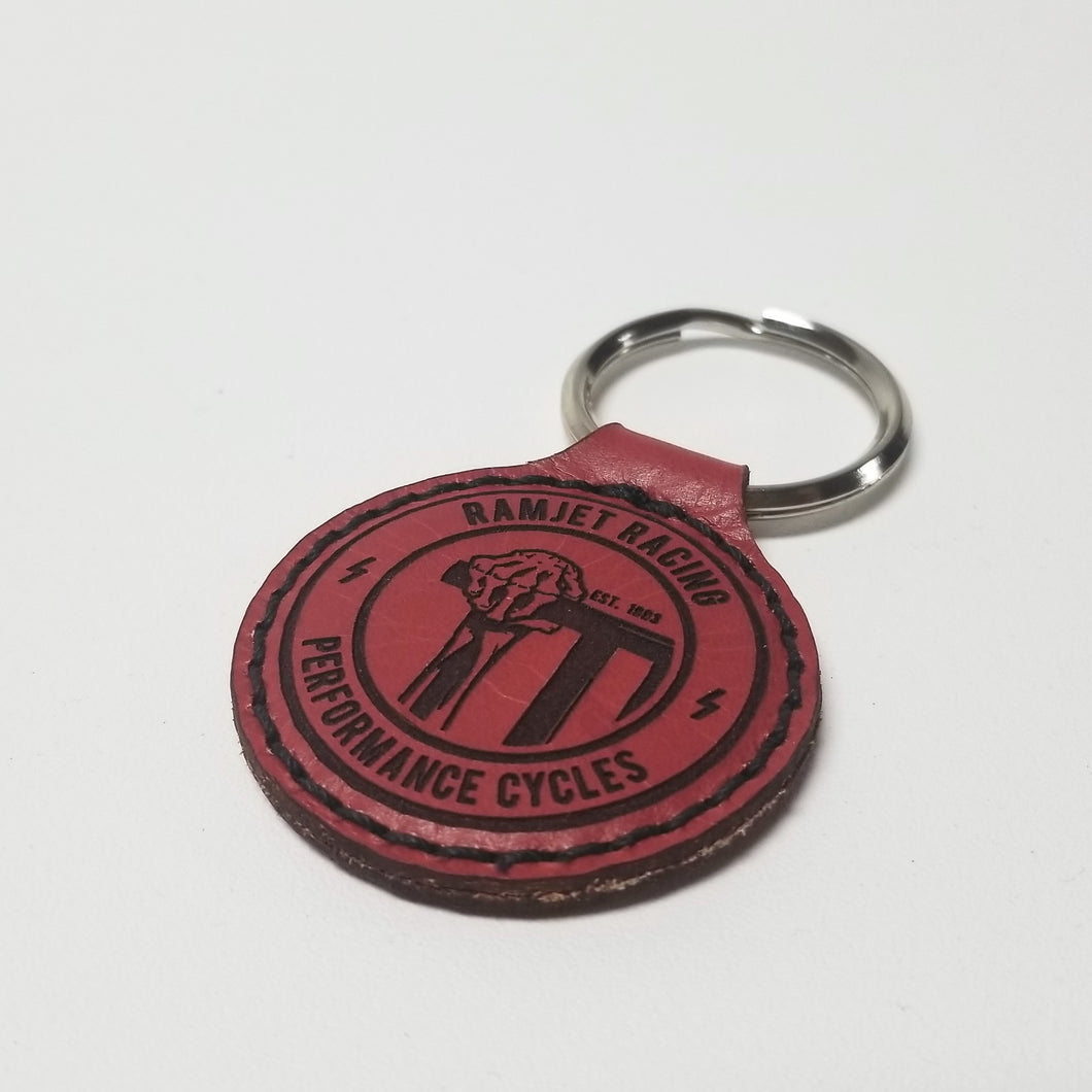 RAMJET THROTTLE LEATHER KEY CHAIN - RED