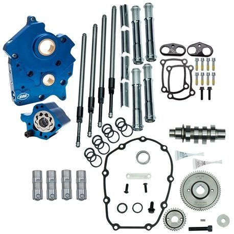 S&S GEAR DRIVE 475G CAM CHEST KIT 17'-LATER M8 MODELS- CHROME, WATER COOLED