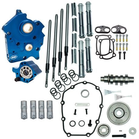 S&S GEAR DRIVE 465G CAM CHEST KIT 17'-LATER M8 MODELS- CHROME, OIL COOLED