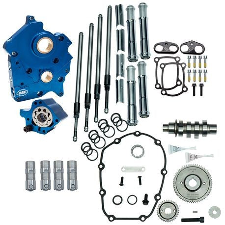 S&S GEAR DRIVE 475G CAM CHEST KIT 17'-LATER M8 MODELS- CHROME, OIL COOLED