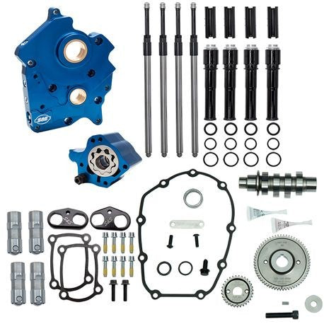 S&S GEAR DRIVE 465G CAM CHEST KIT 17'-LATER M8 MODELS- BLACK, WATER COOLED