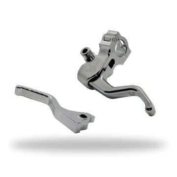 1FNGR EASY PULL CLUTCH + BRAKE LEVER COMBO | CHROME- 14'+ SPORTSTER