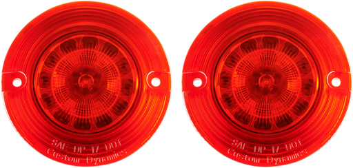 CUSTOM DYNAMICS RED TURN SIGNAL INSERTS - FLAT