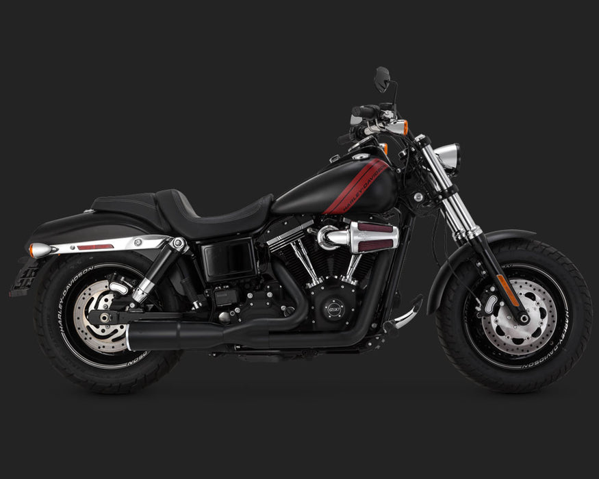 VANCE AND HINES BLACK HI-OUTPUT 2-INTO-1 SHORT