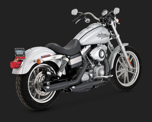 "VANCE AND HINES BLACK TWIN SLASH 3"" SLIP-ONS"
