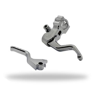 1FNGR EASY PULL CLUTCH + BRAKE LEVER COMBO | CHROME - DYNA/SOFTAIL