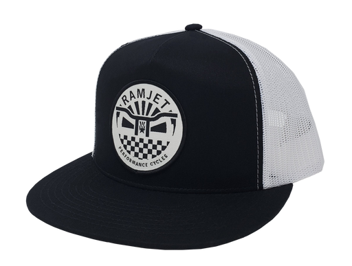 RAMJET RACING BMX TRUCKER SNAPBACK BLACK AND WHITE