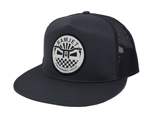 RAMJET RACING BMX TRUCKER SNAPBACK BLACK