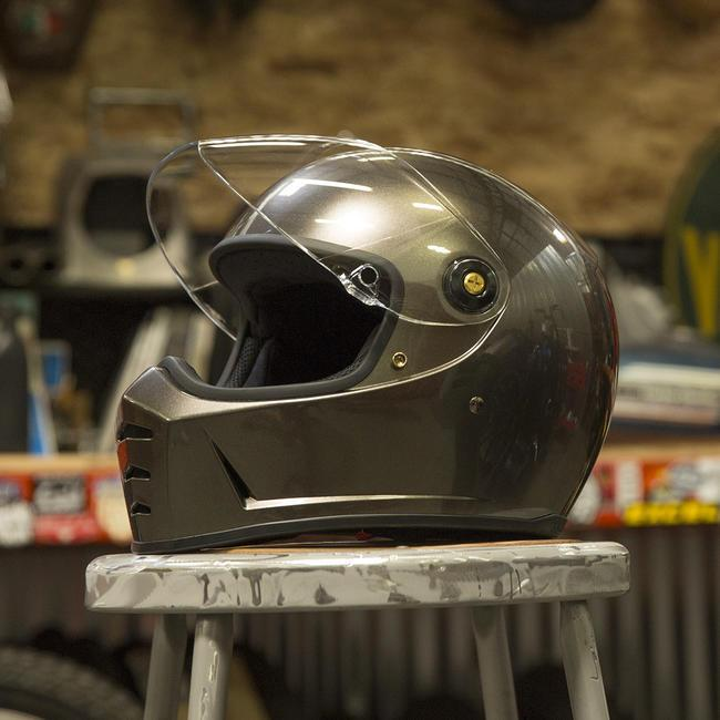 Biltwell Lane Splitter + Bronze Metallic Helmet