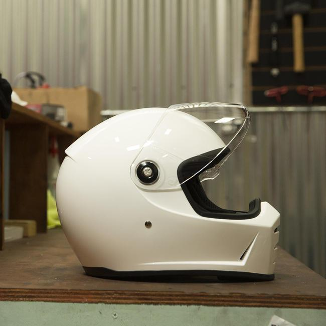 Biltwell Lane Splitter + Gloss White Helmet