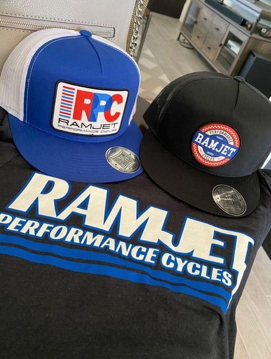 RAMJET RACING CHECKERBOARD TRUCKER SNAPBACK CAMO