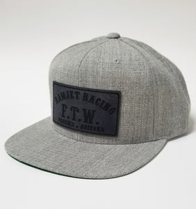 FTW CHARCOAL LEATHER SNAPBACK HAT