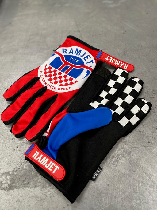 RAMJET MOTO GLOVES (RED)