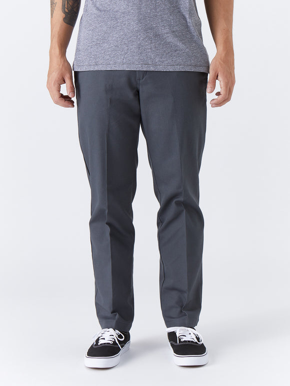 Dickies '67 Slim Fit Stretch Straight Leg Work Pants - Charcoal Gray