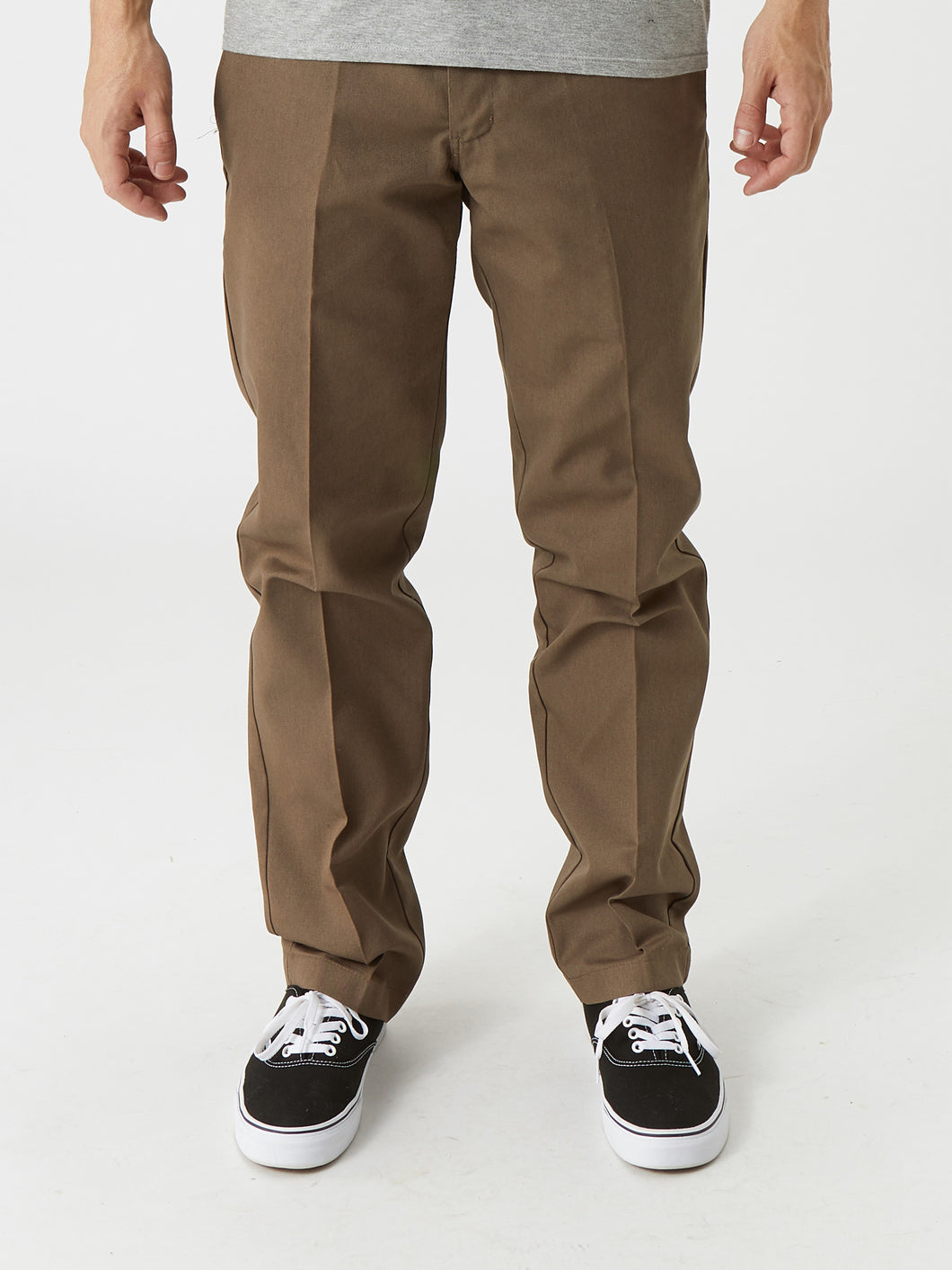 Dickies '67 Slim Fit Stretch Straight Leg Work Pants - Mushroom