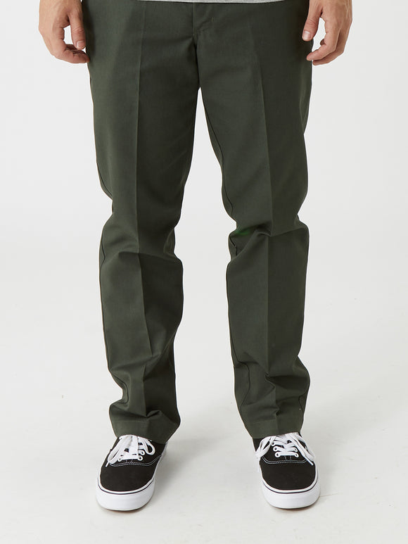 Dickies '67 Slim Fit Stretch Straight Leg Work Pants - OD Green