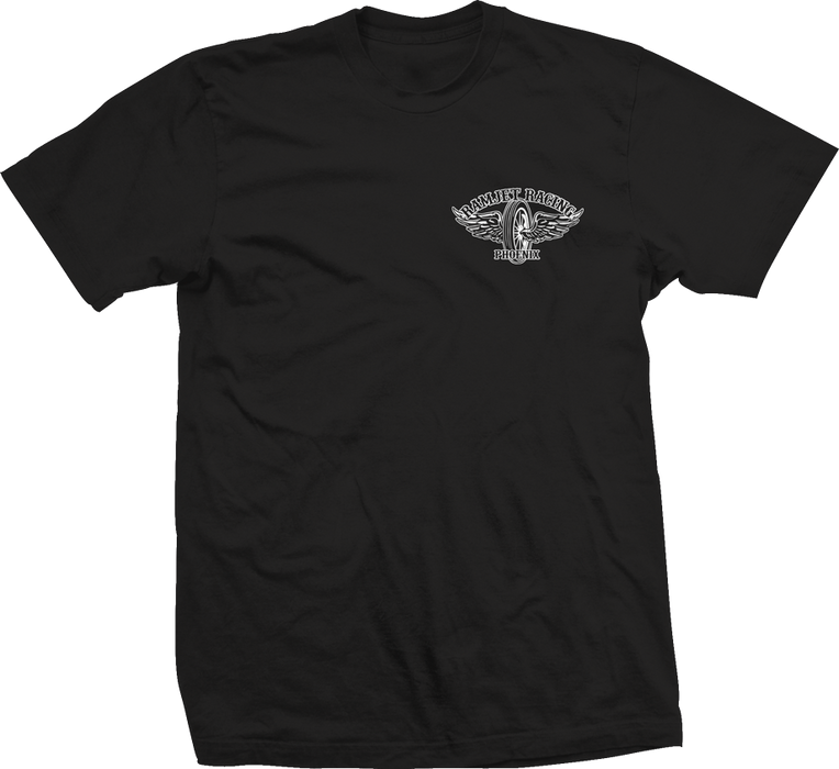 Ramjet Racing Winged Black T-Shirts