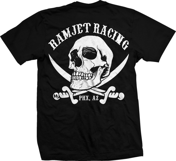 Ramjet Racing Jolly Roger Black T-Shirts