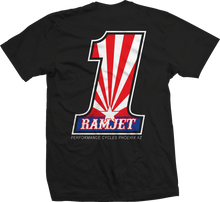 Load image into Gallery viewer, RAMJET AZ NUMBER 1 (RWB) T-SHIRT BLACK