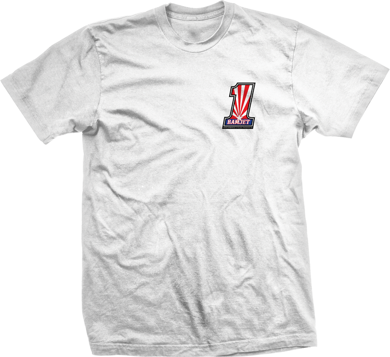 Ramjet Racing White No. 1 T-Shirt