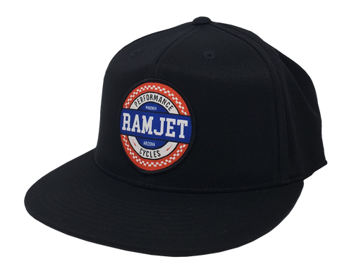 RAMJET RACING CHECKERBOARD FITTED HAT BLACK