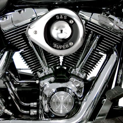 S&S TEAR DROP AIR CLEANER - CHROME