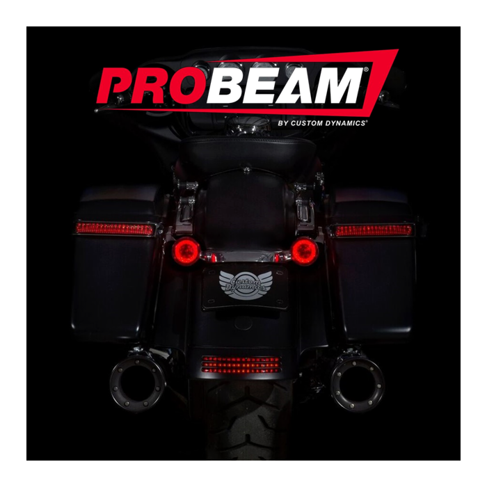 CUSTOM DYNAMICS PROBEAM RED LED TURN SIGNALS WITH RED LENSES
