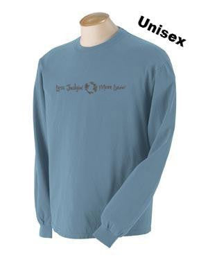 long sleeve unisex t-shirt, bay color