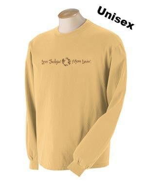 long sleeve unisex t-shirt, mustard color