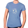 Women's Heather Blue Jersey & Cotton Blend Tee