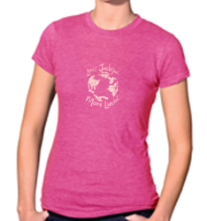 Women's Jersey & Cotton Blend Tee Heather Fuchsia