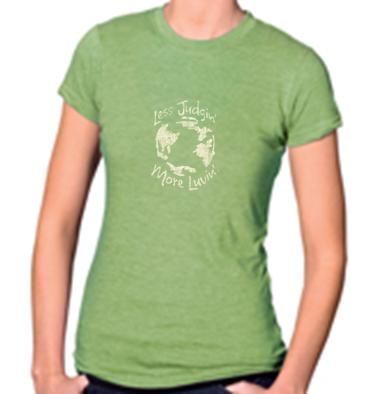 Women's Heather Green Jersey & Cotton Blend Tee