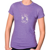 Women's Heather Purple Jersey & Cotton Blend Tee