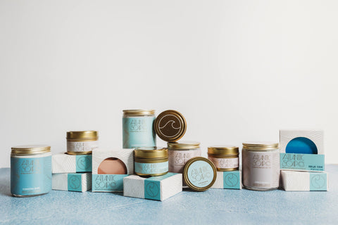 Atlantic Soap Co. collection of candles and soaps