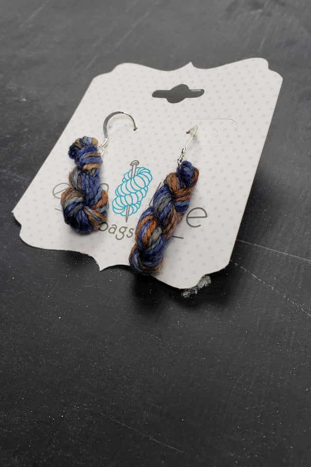 Mini Hank Earrings in Night Skyline