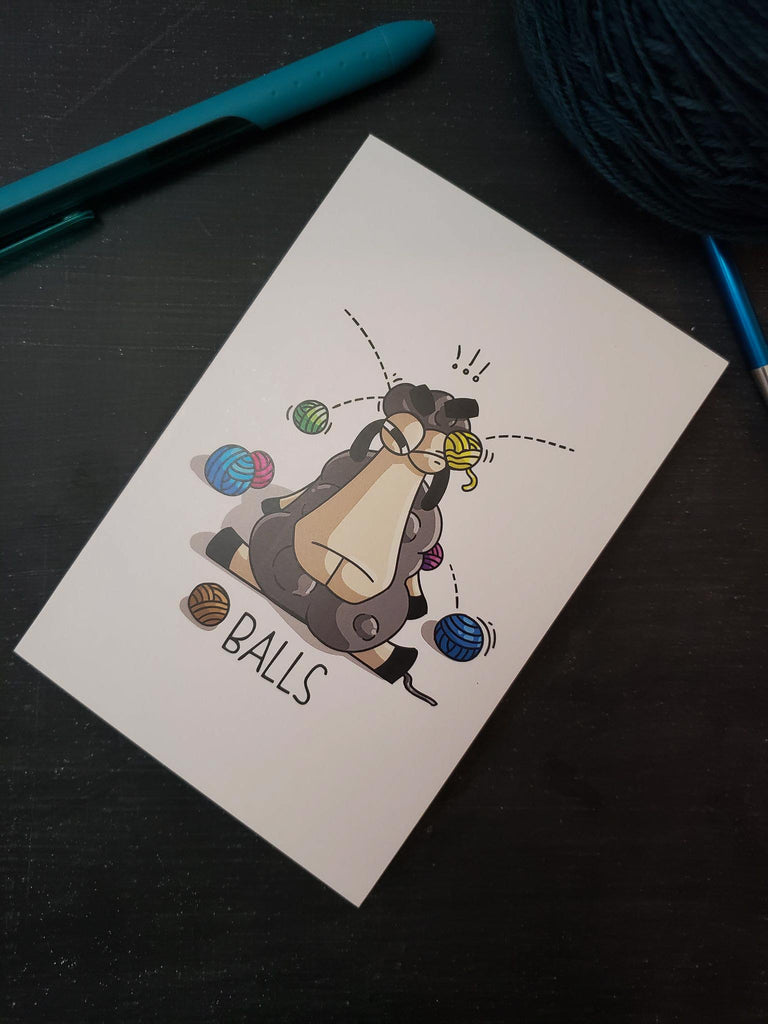 "Greeting Card in Larry ""Balls"""