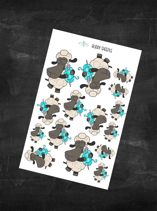 Planner Stickers Bag Buddy Sheeple Characters