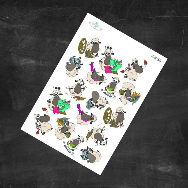 Planner Stickers Crafting Sheeple Characters